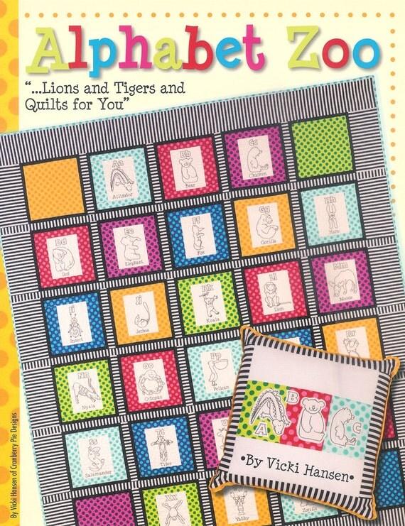 Book Alphabet Zoo Quilts by Vicki Hansen