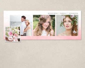 Facebook timeline cover template photo collage photos digital PSD FC064