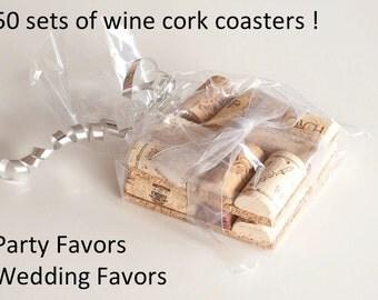 Wedding Favor, Wine Cork Coaster Single, Party Favor, Wedding Favors, Unique Wedding Favors, Table Decor,  Bridal Shower