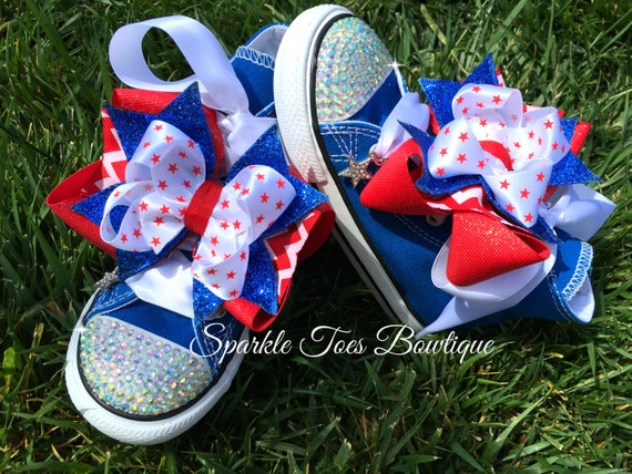 Star Spangled Cutie Shoes 4th Of July Bows July 4th