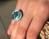 Buy two GET ONE! Sacred Geometry Ring Made in Fun Colorful Glass. Pin it if you like it!
