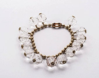 Natural Rock Crystal Charm Bracelet