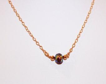 Rainbow Colour Coated Amethyst Necklace