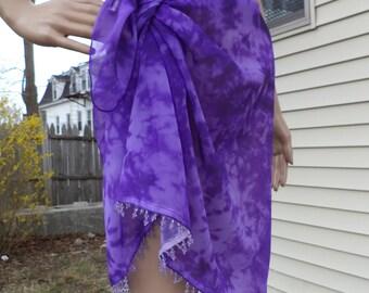 Bathing Suit Wrap, Sarong, Coverup - Purple