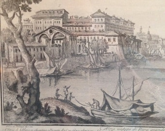 18th Century Italian Engraving of Rome