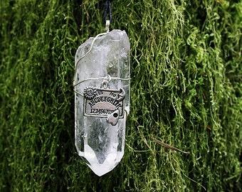 ouija quartz necklace