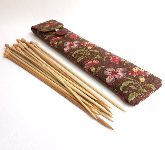 How To Store Knitting Needles : Knitting needle case straight storage
