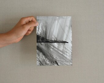 Finding a way-Original abstract ink drawing on paper/Wind/Contemporany art/modern art/ink dark/minimal/unique/gestual art by Cristina Ripper