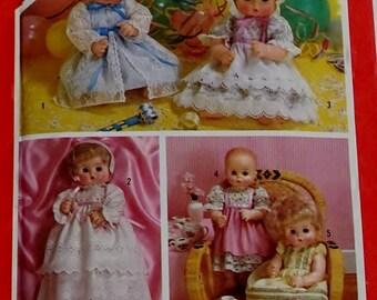 Simplicity 6055 Pattern Dolls Set Of Party Dresses