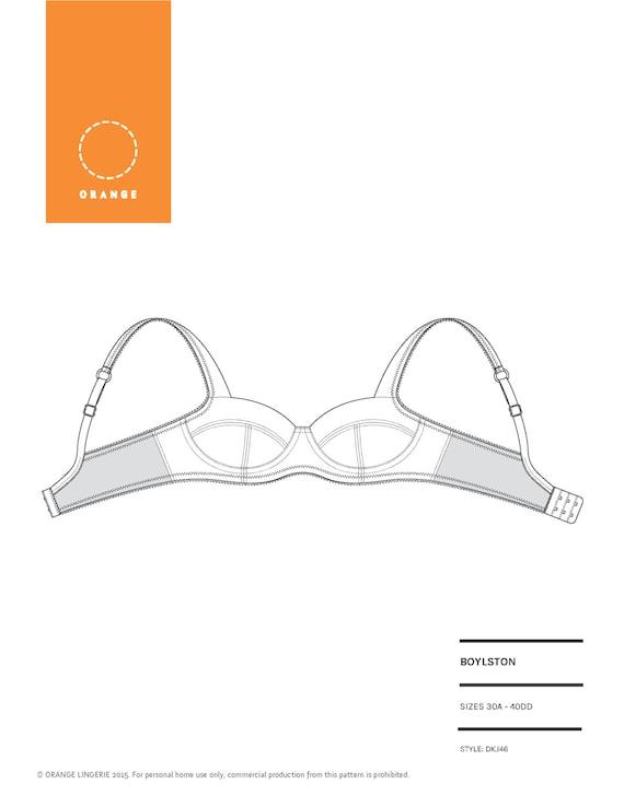 PDF sewing pattern for an underwire bra by Orange Lingerie - Boylston Bra
