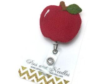Apple ID Badge Reel - ID Badge Holder - Retractable Badge Reel - Badge Reels - Apple ID Badge Reel - Teacher Gifts - Apple Id Badge