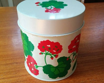 Vintage Avon Summer Fantasy Refillable Tin Canister Candle Holder 1980s