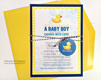 Rubber Duckie Baby Shower Invite