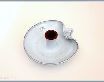 Unique 1960s mid century ceramic Dutch candle holder, by Delfos.