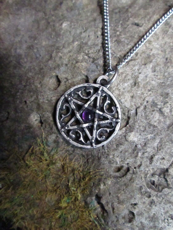Handmade Gothic Harajuku Fashion W H Naoto Spiderweb Bag: Handmade Gothic Pentagram With Amethyst Or Other Gemstone