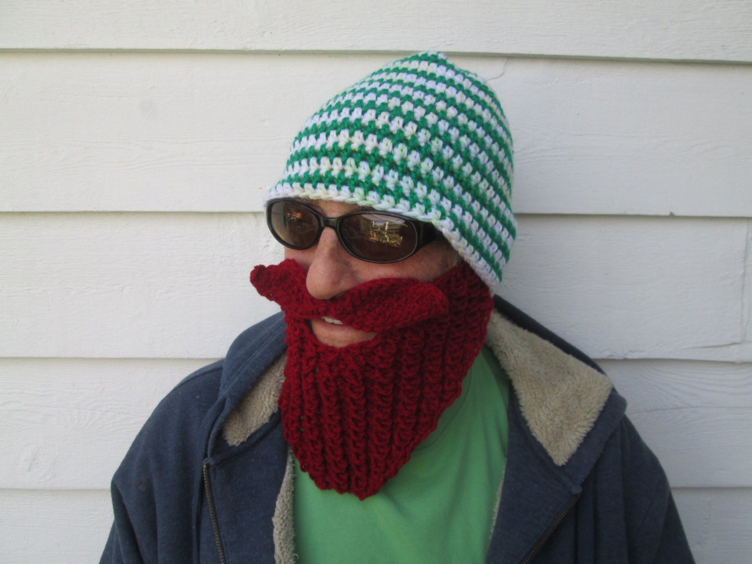 KNIT BEARD HAT long Beard Beanie Wild Men Bearded by ...