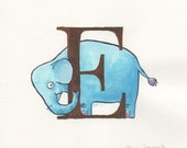 Hand drawn illustrated alphabet letters. Custom made to order. Ideal for nursery decor.