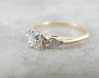Gorgeous European Cut Diamond And Vintage Engagement Ring UNNJW8-P