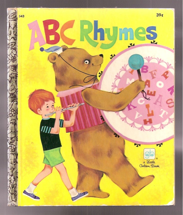 1970s Childrens Books Vintage A Little Golden Book Abc By