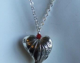 Silver heart pendant 0357nk