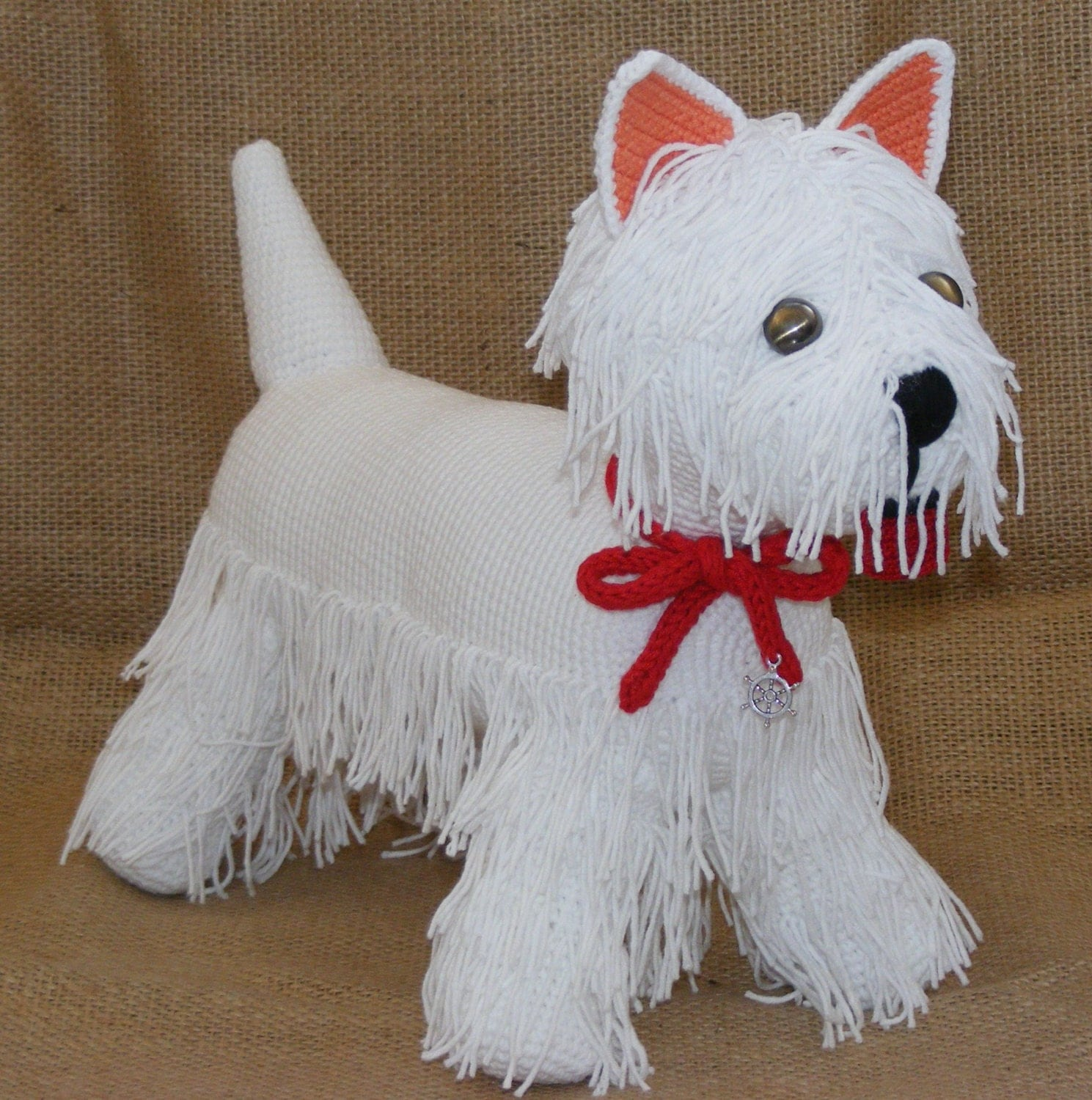 Amigurumi westie terrier crochet dog white terrier by ...