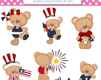 Americana, July 4th, Clipart, Personal, Small Commercial Use