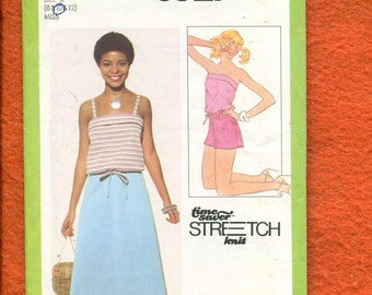 1970's Simplicity 8527Summer Time Camisole Tops Skirt & Shorts  Size 8...10