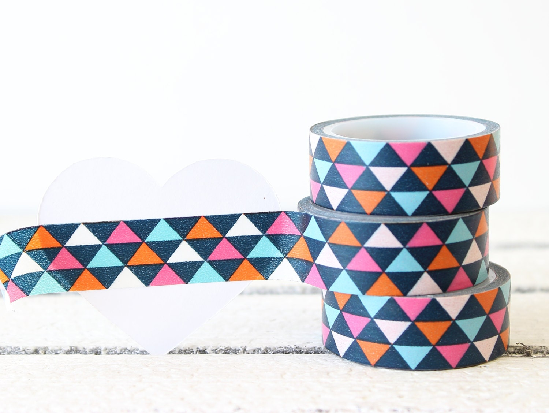 Washi tape printed paper tape geometric washi tape planner for Geometric washi tape designs