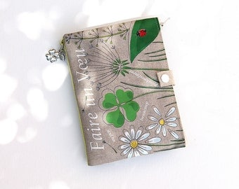 """Bag Organizer / multipoches in illustrious lin clover and Ladybug """"Make a wish"""""""