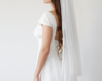 Bridal veil wedding fingertip length  - Cécilia