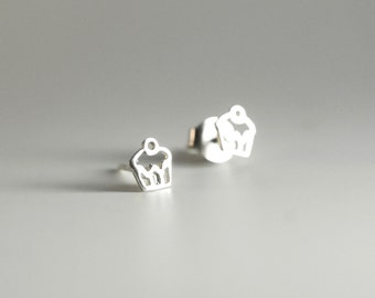 Cupcake Sterling Silver Earring Studs