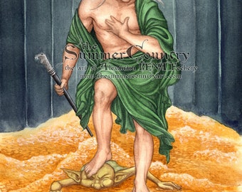 Lucius Malfoy as Narcissus Art Print 8.5x11 inch size