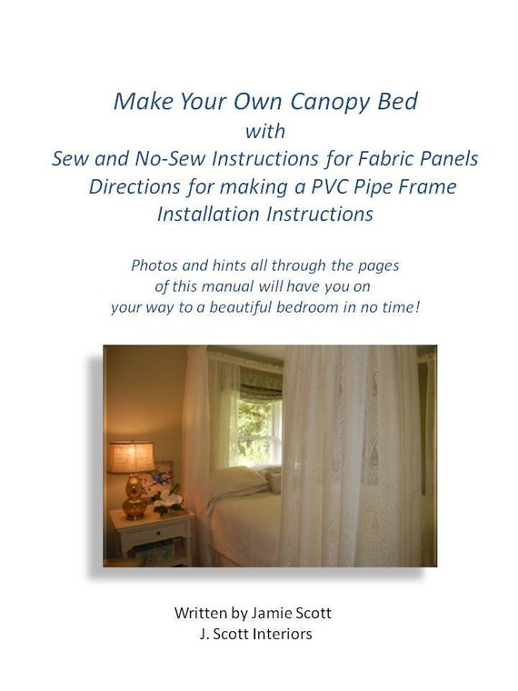 Items similar to downloadable e book make your own canopy for Build your own canopy frame