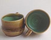 Pottery Coffee Mug. Porcelain Teacup. Porcelain Pottery. Wheel Thrown Pottery, Handmade ceramics. Small Coffee Tea Cup Porcelain Pottery