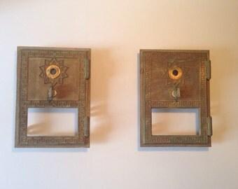 1950s Mailbox Doors (pair)