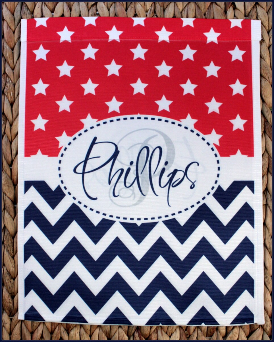 Garden Flag July Fourth 4th Of July Flag Monogrammed Personalized Decorations  Patriotic Outdoor Garden Decor Yard Housewarming Hostess Gift