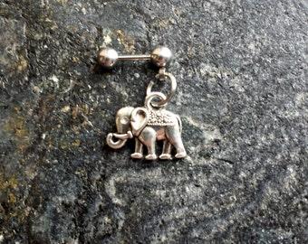 Elephant - 18g , 16g , 14g (1mm , 1.2mm , 1.6mm) Cartilage Ear Stud Barbell Piercing Jewelry