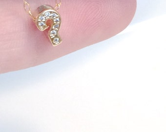 Tiny ? Necklace, ? gold necklace, Question Mark Necklace