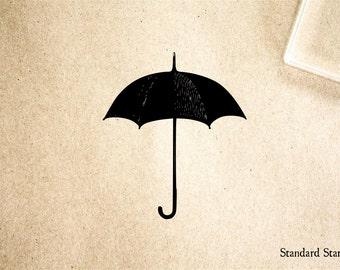 Umbrella Rubber Stamp - 2 x 2 inches