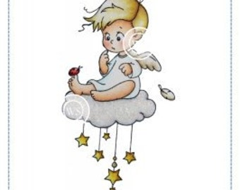 Wee Stamps - Angel Cody Cling Mount Stamp Brand New