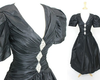 Vintage Ball Gown Black Couture