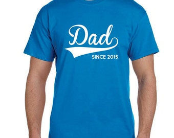 Gifts for Dad, Dad TShirt First Time Dad Gifts Personalized Mens Gift Dad Christmas Gift Mens Personalized Gifts Husband Gift Since ANY YEAR