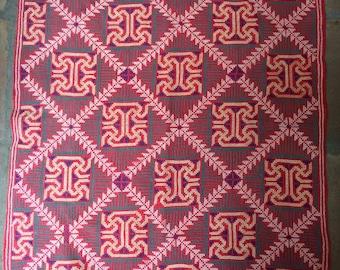 Vintage Cross Stitched Textile