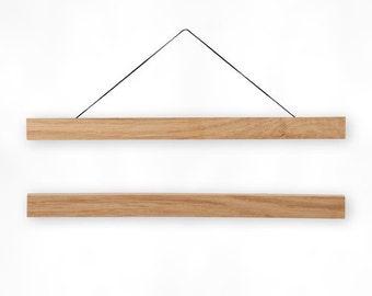 Wooden poster hanger WOODY