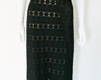 CHRISTIAN LACROIX Bazar Asymmetrical Lace Patchwork DRESS - Italy - sold As Is condition