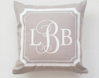 Rustic Country Farmhouse Home Decor, Pillow Cover, Decorative Personalized Accent Throw Pillows, Monogram Pillow Covers Initials