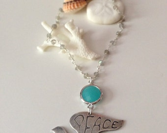 Labradorite Beaded Peace Dove Turquoise Layering Sterling Silver