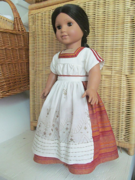 american girl doll mexican chemisa skirt and apron for. Black Bedroom Furniture Sets. Home Design Ideas