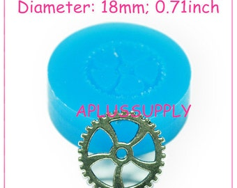 ST018 Steampunk Gears Flexible Push Mould For Crafts From Resin Paper Clay Sculpey Fimo Polymer Premo Wax Chocolate Dollhouse