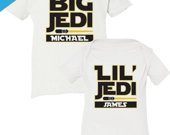 Star Wars Shirt for Kids, Star Wars Big Brother Little Brother Shirt, Jedi Shirt for Brothers, Star Wars Shirt, Matching Brother Shirts